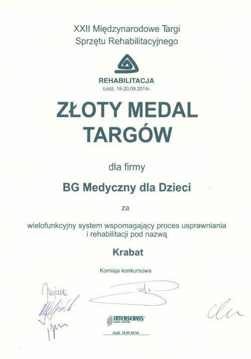 Złoty medal targów rehabilitacja