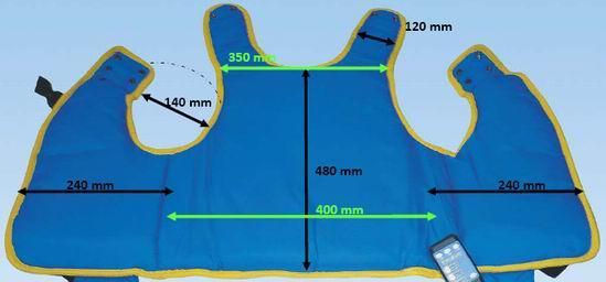 Kamizelka oscylacyjna Vibra Vest rozmiar S