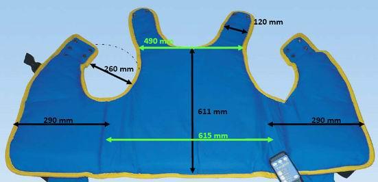 Kamizelka oscylacyjna Vibra Vest rozmiar XL